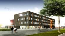 Første spadestik taget til Jyske Banks nye kontorhus